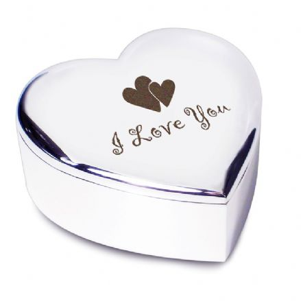 I Love You Heart Trinket Box